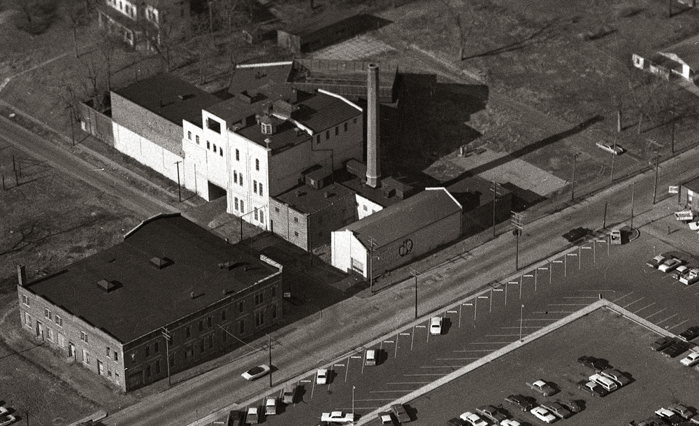 This aerial view shows the shuttered Reisch Brewery complex taken on December 22, 1966, with Rutledge Street located at bottom of frame. Torn down the following year, the Southern Illinois School of Medicine now occupies the land where the brewery sat. File/The State Journal-Register