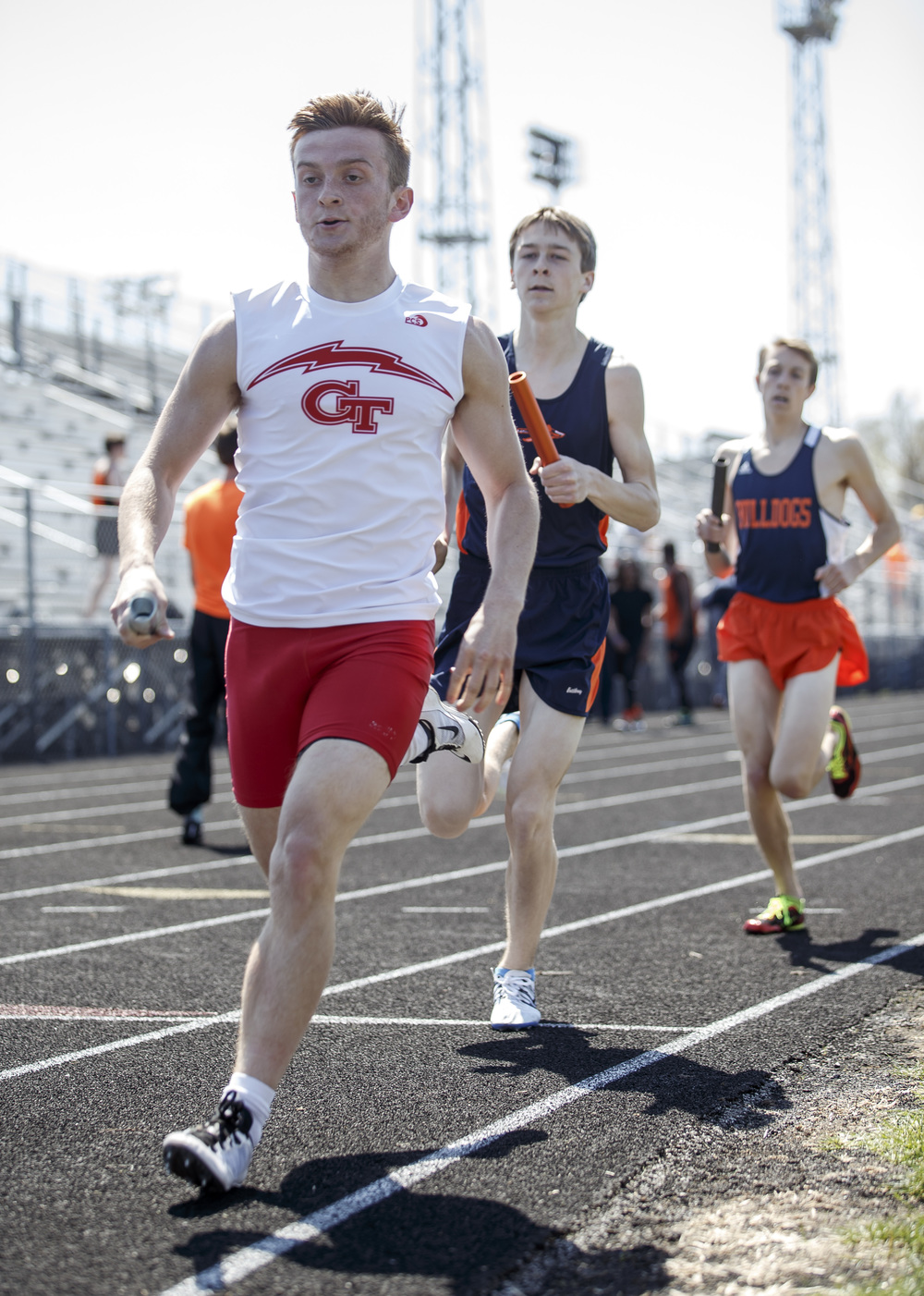 Glenwood's Cameron Williams runs the first leg of the 4x800m Relay during the Capital City Classic track and field meet at Memorial Stadium, Saturday, April 16, 2016, in Springfield, Ill. Glenwood won the event setting a new meet record with a time of 8:06.79. Justin L. Fowler/The State Journal-Register