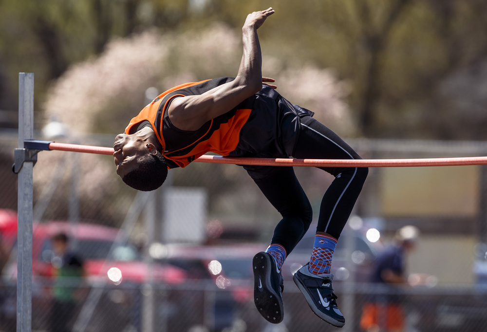 Lanphier's A'Jonte Lee won the High Jump clearing 6-06.00 during the Capital City Classic track and field meet at Memorial Stadium, Saturday, April 16, 2016, in Springfield, Ill. Justin L. Fowler/The State Journal-Register