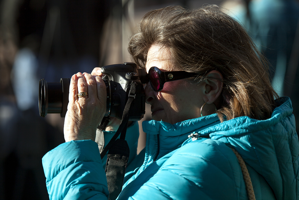 Gayle Norton snaps photos at the Old State Capitol at the commemoration of the 151st anniversary of Abraham Lincoln's funeral Wednesday, May 4, 2016. Rich Saal/The State Journal-Register