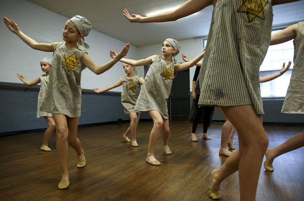 "Dancers rehearse ""Yeladim-Yeshaynim,"" (Hebrew for ""Sleeping Children""), a tribute to victims of the Holocaust, at Janet Cripe's Dance Creations Dance Studio in Springfield Thursday, April 28, 2016. The troupe will perform the number at the Holocaust Remembrance Day service Thursday at the Old State Capitol. Ted Schurter/The State Journal-Register"