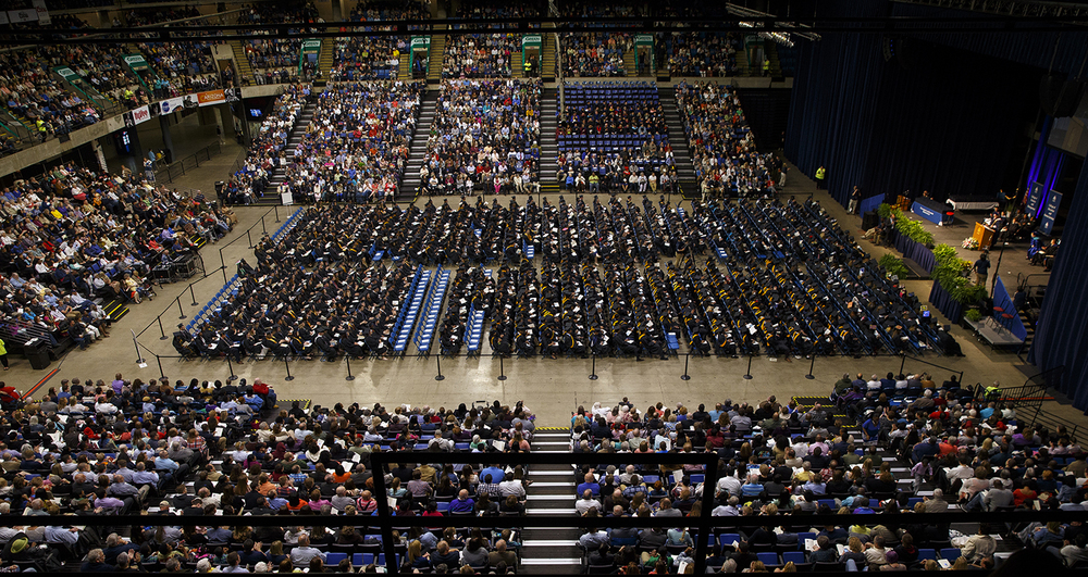 More than 1,100 students participated during the University of Illinois Springfield's 45th annual Commencement Ceremony at the Prairie Capital Convention Center Saturday, May 14, 2016. Ted Schurter/The State Journal-Register