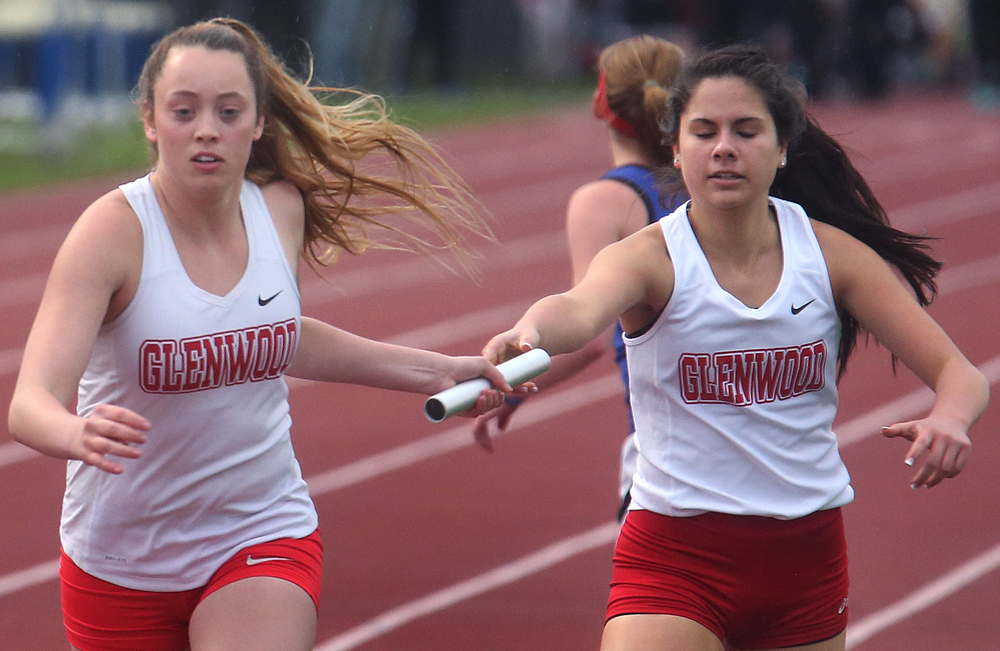 The Chatham Glenwood girls won the 4 x 800 meter relay. David Spencer/The State Journal-Register