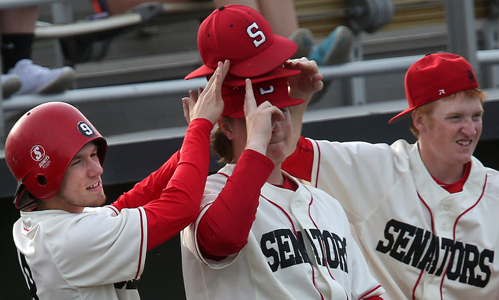 A seventh inning scoring situation for the Senators came up short, even with dugout action featuring players expressing hand signals and the wearing of multiple hats for good luck. David Spencer/The State Journal-Register