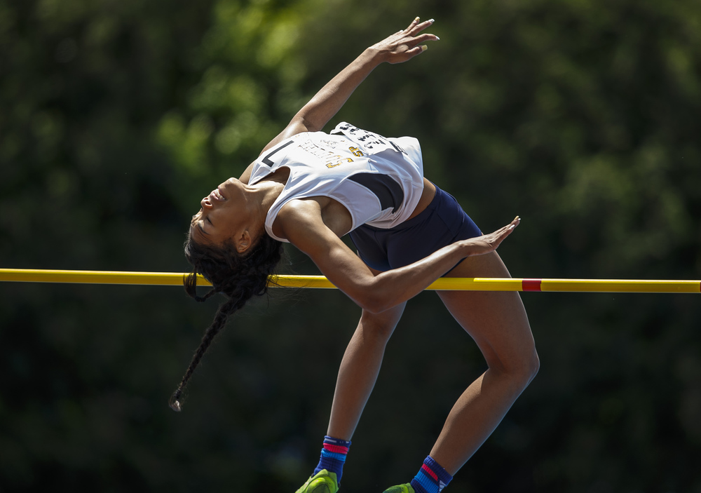 Southeast's Jamari Drake finished 5th in the Class 2A High Jump clearing 5-05.00 during the 2016 IHSA Girls State Track and Field Meet at O'Brien Stadium, Saturday, May 21, 2016, in Charleston, Ill. Justin L. Fowler/The State Journal-Register