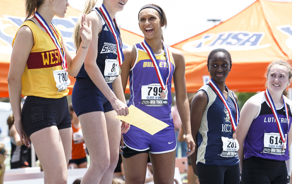 Williamsville's Cheyanna Michael finished 3rd in the Class 1A Triple Jump with a jump of 36-08.25 during the 2016 IHSA Girls State Track and Field Meet at O'Brien Stadium, Saturday, May 21, 2016, in Charleston, Ill. Justin L. Fowler/The State Journal-Register