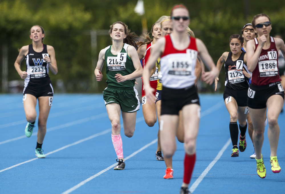Boylan Catholic's Delaney Appino finished 4th with a time of 2:17.02 in the Class 2A 800-Meter Run during the 2016 IHSA Girls State Track and Field Meet at O'Brien Stadium, Saturday, May 21, 2016, in Charleston, Ill. Justin L. Fowler/The State Journal-Register
