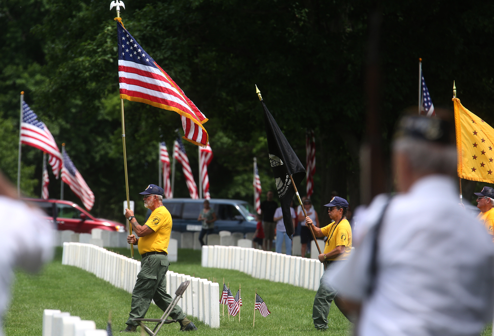 The Vietnam Veterans of America posted the Colors at the beginning of the ceremony. David Spencer/The State Journal-Register