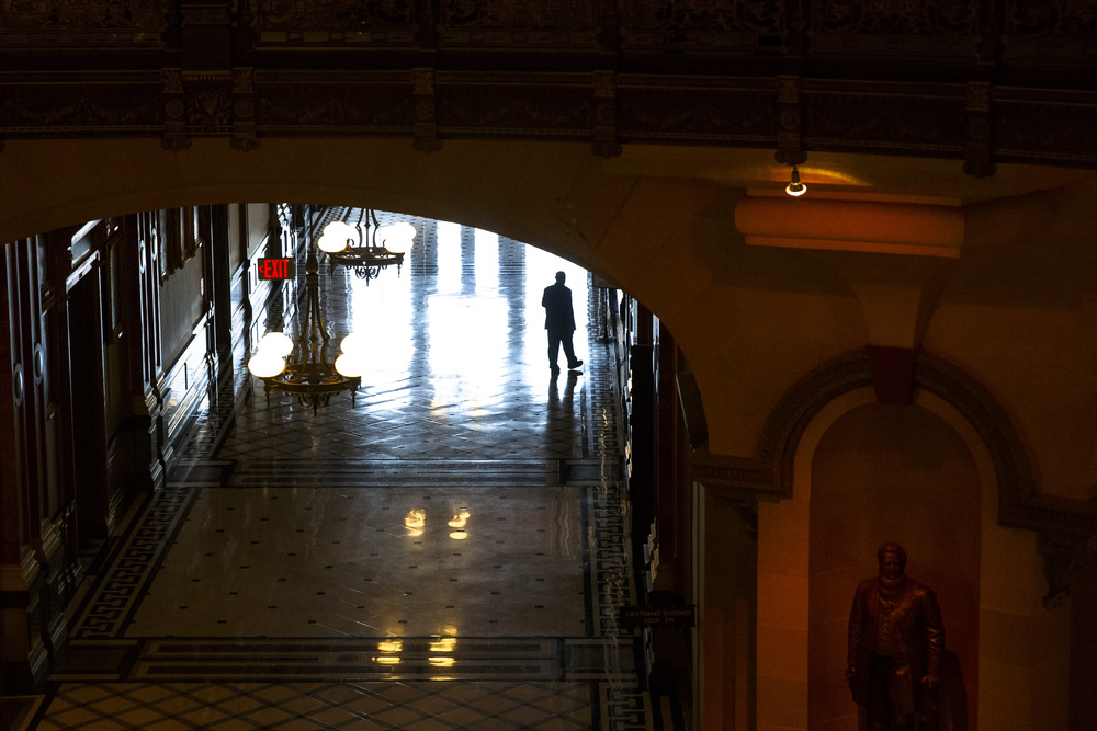 The Illinois State Capitol turns quite in the hallways in the late afternoon on the final day of the spring legislative session at the Illinois State Capitol, Tuesday, May 31, 2016, in Springfield, Ill. Justin L. Fowler/The State Journal-Register