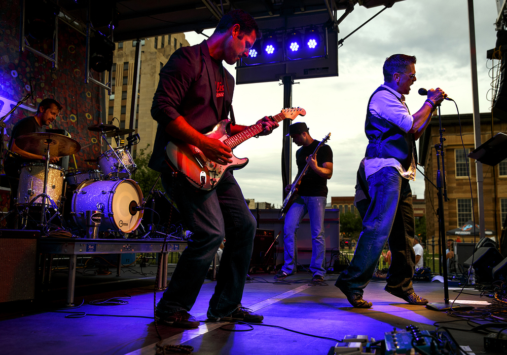 Dave Combs and Highway J perform on the SoHo Main Stage on the opening night of the two day festival in downtown Springfield Friday, June 3, 2016. Ted Schurter/The State Journal-Register