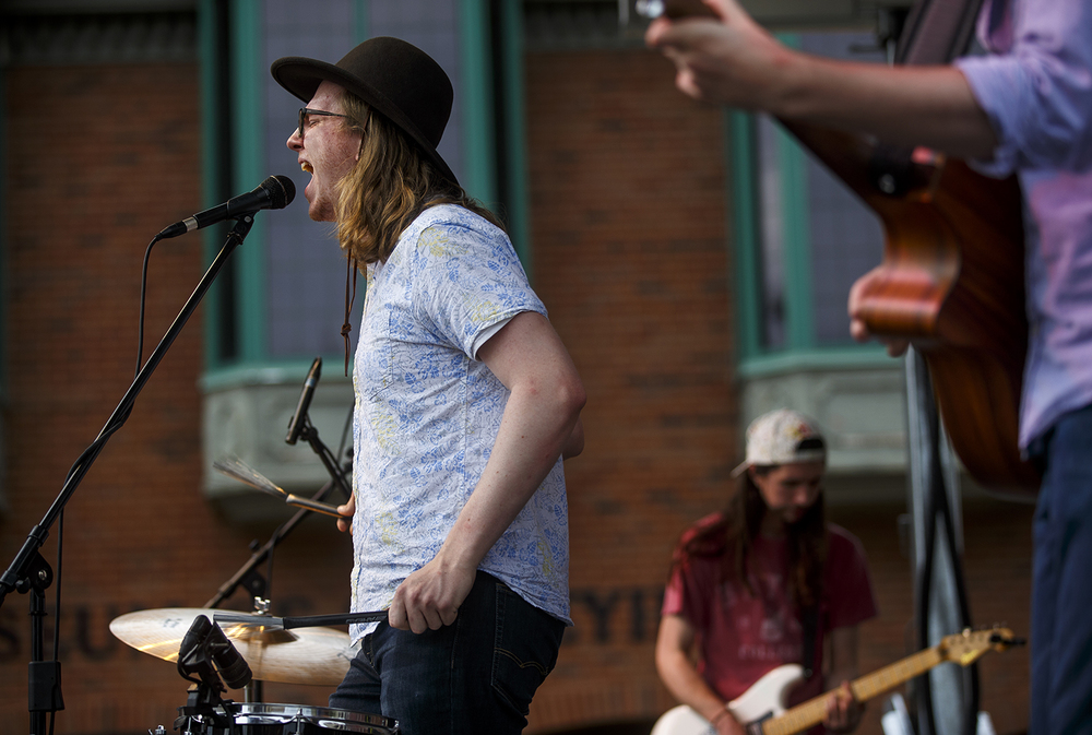 Clifford Close and Sherwood Forest perform on the main stage at The SoHo Music Festival in downtown Springfield Friday, June 3, 2016. Ted Schurter/The State Journal-Register