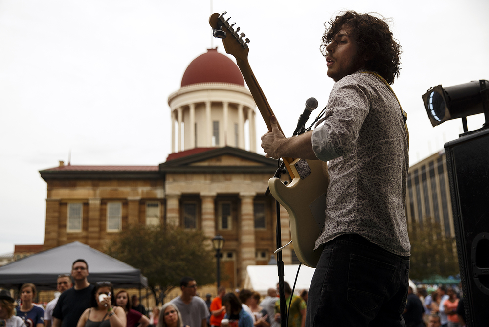 Matt LaMarca performs with Blind Social during the SoHo Music Festival in downtown Springfield Friday, June 3, 2016. Ted Schurter/The State Journal-Register