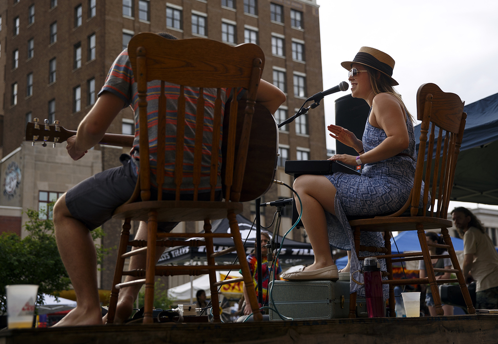 Jenae Ryan and Jason Thomason perform as Hot Sauce Universe on the Acoustic Stage during the SoHo Music Festival in downtown Springfield Friday, June 3, 2016. Ted Schurter/The State Journal-Register
