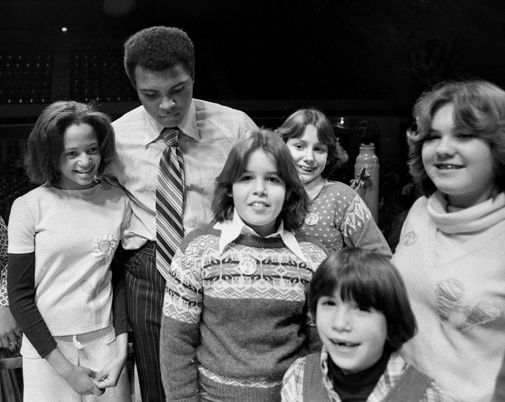 Muhammad Ali during exhibition benefiting the Youth Service Bureau, Illinois State Armory, Feb. 25, 1978. File/ The State Journal-Register