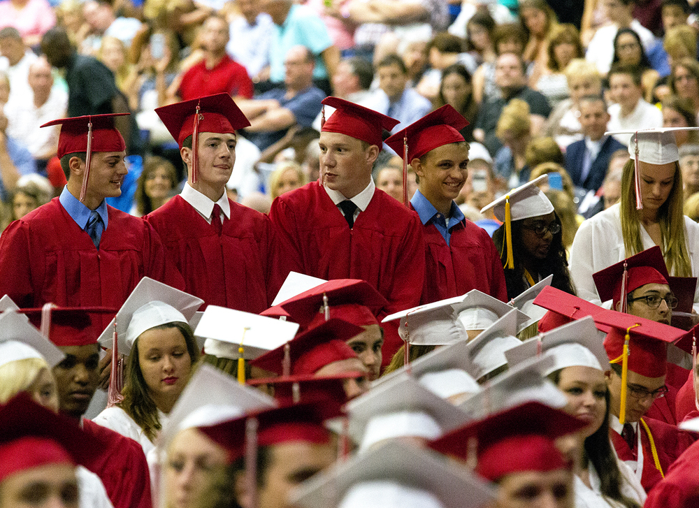 The Glenwood High School graduation Saturday, June 4, 2016 at the Prairie Capital Convention Center. Rich Saal/The State Journal-Register