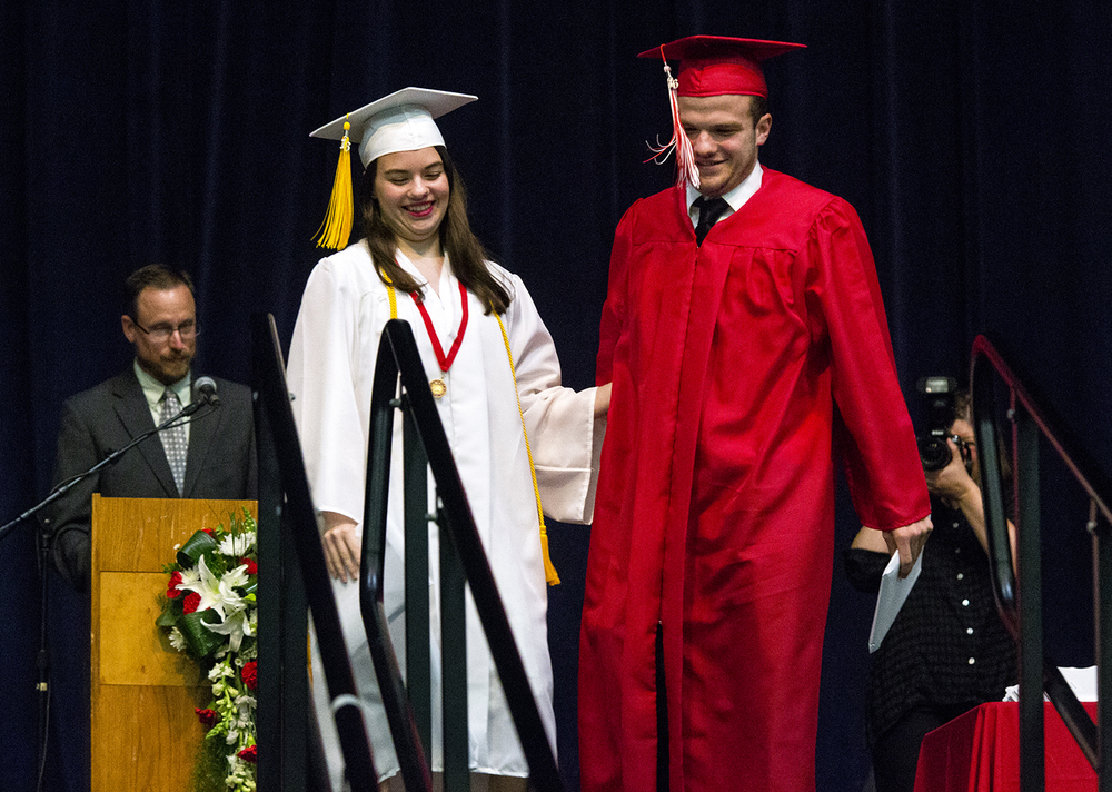 Katherine and her twin brother Zachary Perko graduated together at the Glenwood High School graduation Saturday, June 4, 2016 at the Prairie Capital Convention Center. Rich Saal/The State Journal-Register
