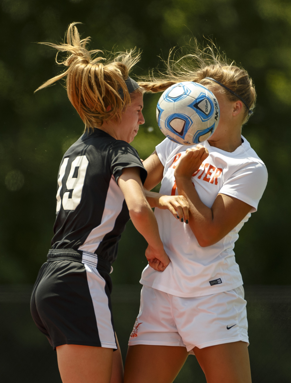 in the first half during the IHSA Class 2A Girls State Soccer Tournament semifinals at North Central College, Friday, June 3, 2016, in Naperville, Ill. Justin L. Fowler/The State Journal-Register