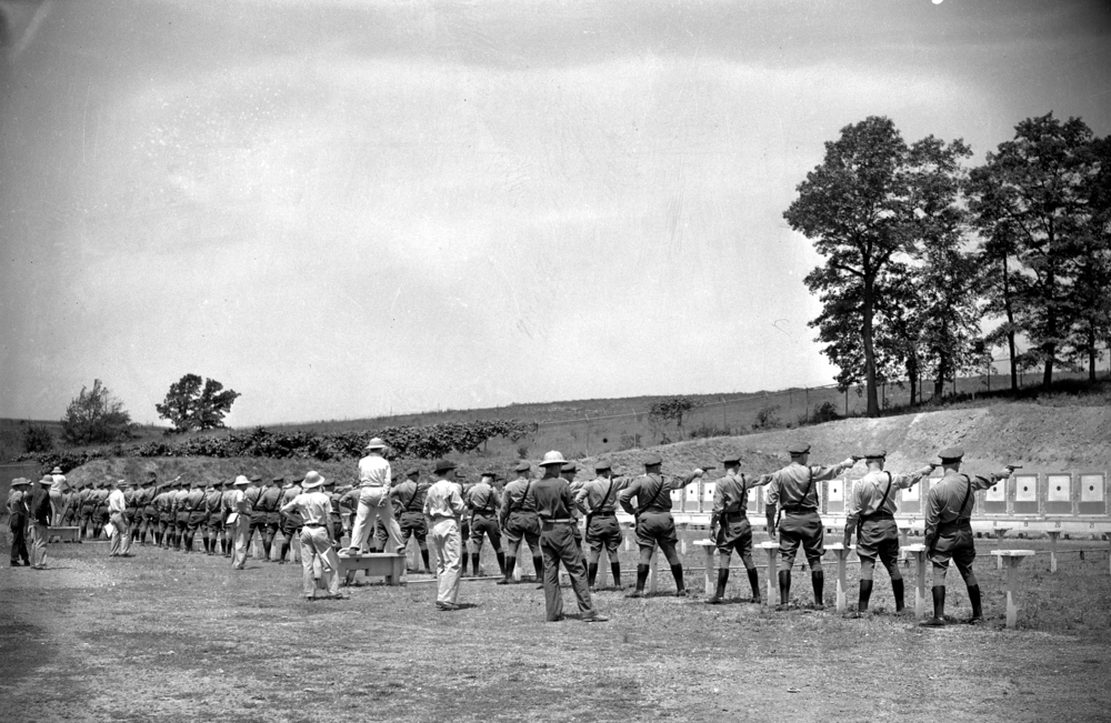 Qualifying round for the Illinois State Police pistol shooting competion at Camp Lincoln June 18, 1941. File/The State Journal-Register