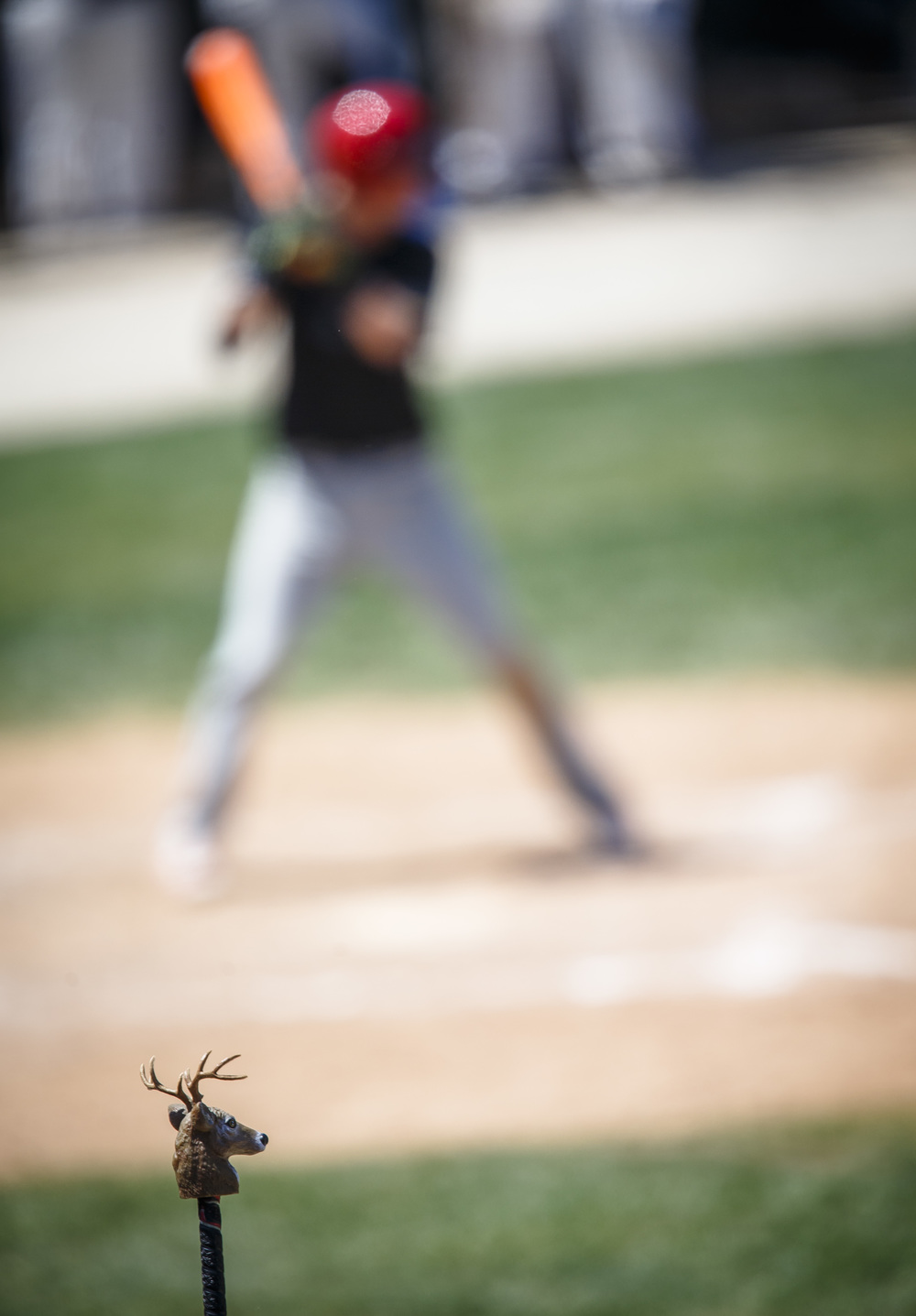 The rally deer head makes its appearance as the Senators score 3 runs in the fourth inning against Bartonville Limestone during the IHSA Class 3A State Tournament semifinals at Silver Cross Field, Friday, June 10, 2016, in Joliet, Ill. Justin L. Fowler/The State Journal-Register