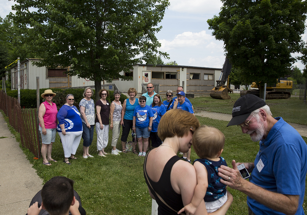Faculty from Lutheran High School gathered for a group photo in front of one of the 30-year-old buildings on the quad campus Saturday, June 11, 2016. Rich Saal/The State Journal-Register
