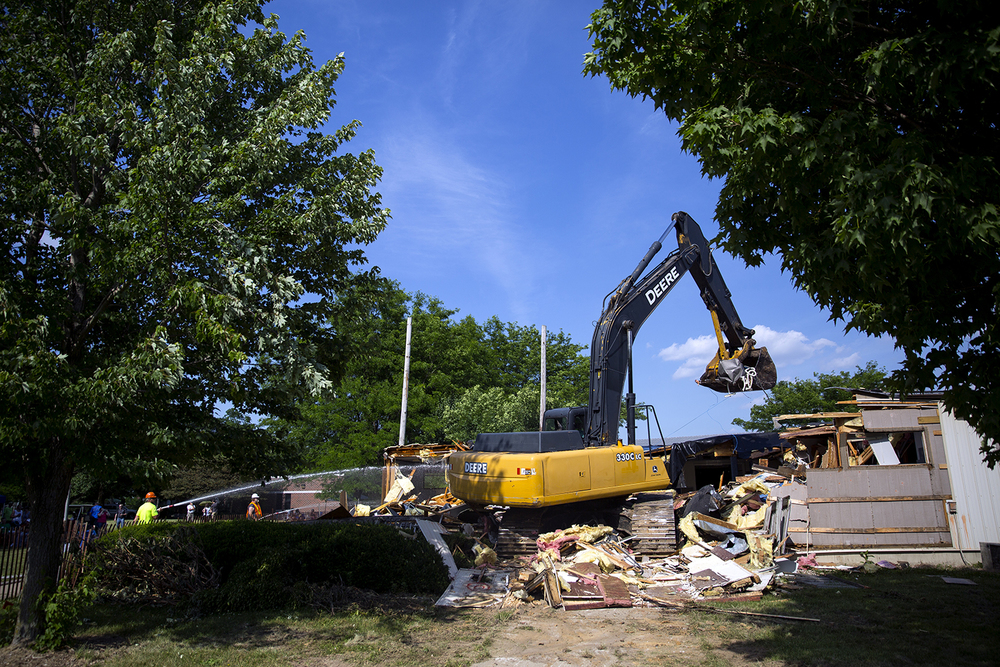 Demolition of the 30-year-old quad campus at Lutheran High School Saturday, June 11, 2016. Rich Saal/The State Journal-Register