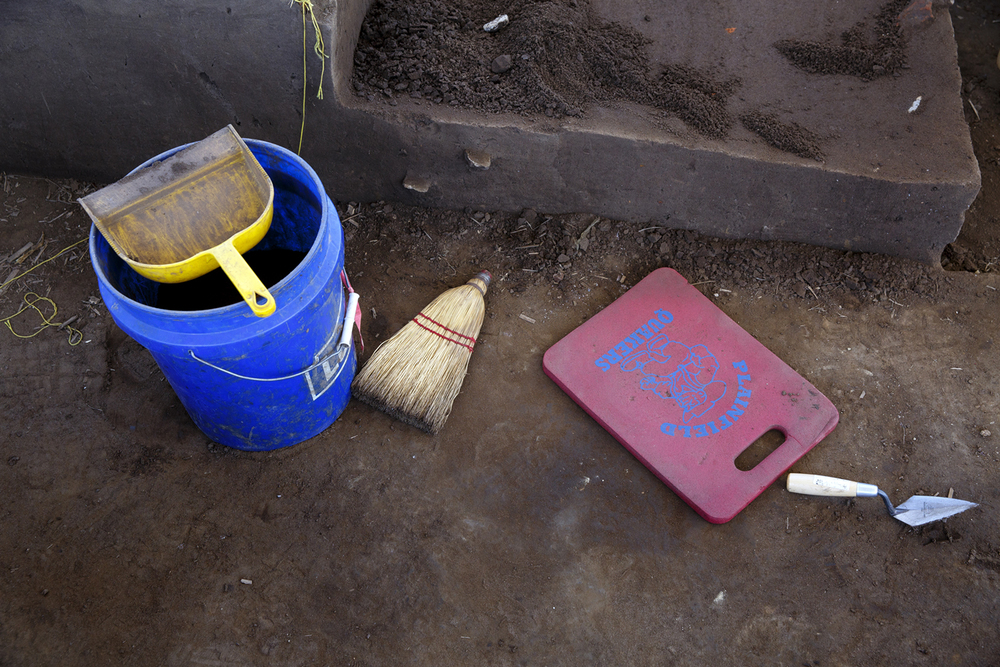 Simple tools are used to excavate the Cass County site. Rich Saal/The State Journal-Register