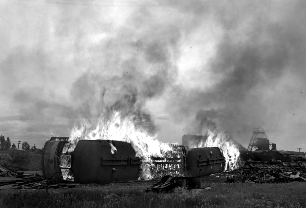 Train fire, June 13, 1938