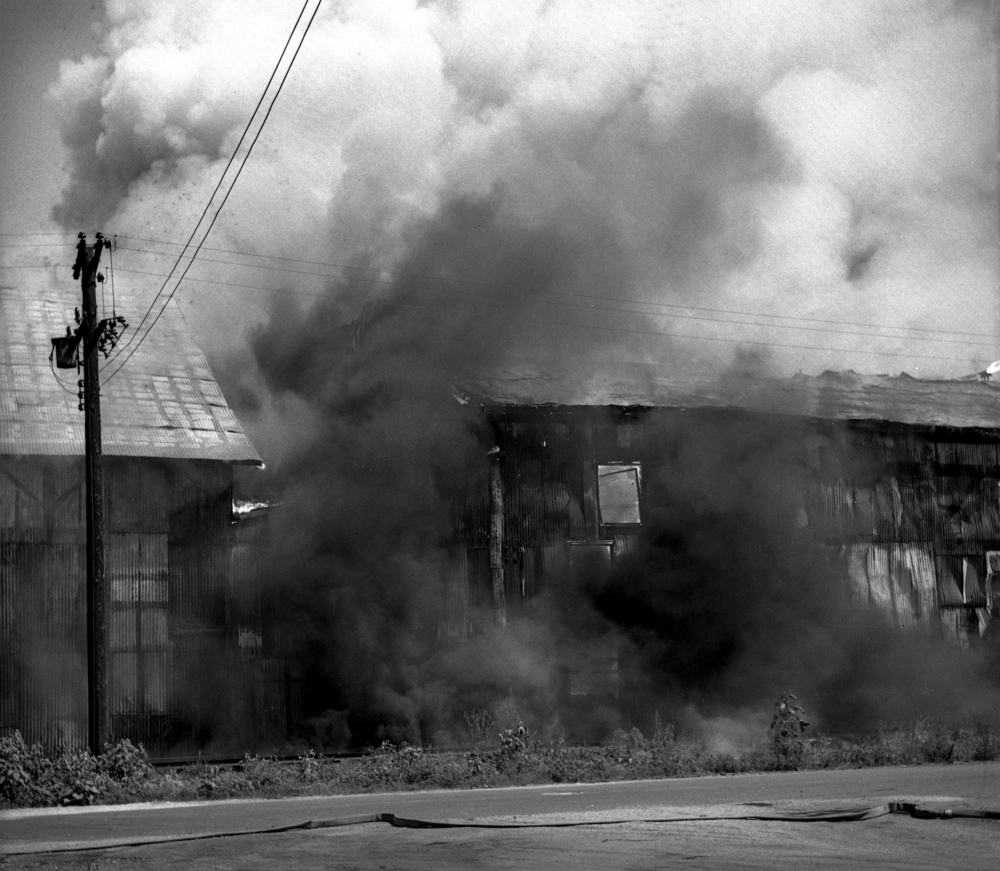 Fire destroyed the Ridgely Avenue sale barn at 1301 Ridgely Ave. July 30, 1947. File/The State Journal-Register