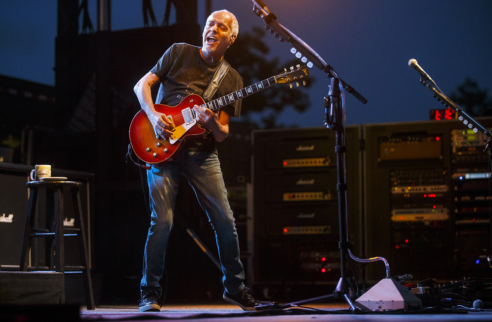 Peter Frampton plays at the Prairie Capital Convention Center's BOS Plaza Monday, July 11, 2016. The concert was the Grammy winner's  first appearance in Springfield since he played at the Illinois State Armory in the 1970s.  Ted Schurter/The State Journal-Register