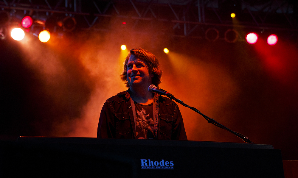 Rob Arthur plays keyboard at Peter Frampton's concert at the Prairie Capital Convention Center's BOS Plaza Monday, July 11, 2016. The concert was the Grammy winner's  first appearance in Springfield since he played at the Illinois State Armory in the 1970s. Ted Schurter/The State Journal-Register