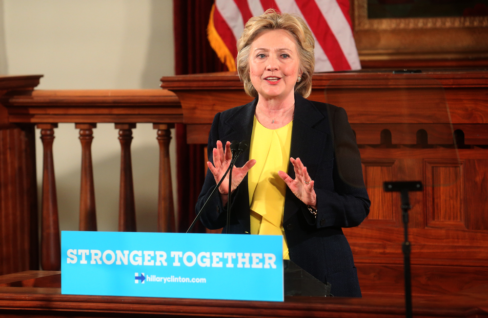 Democratic presidential nominee Hillary Clinton spoke in Representatives Hall inside the Old State Capitol in Springfield on Wednesday, July 13, 2016. David Spencer/The State Journal-Register