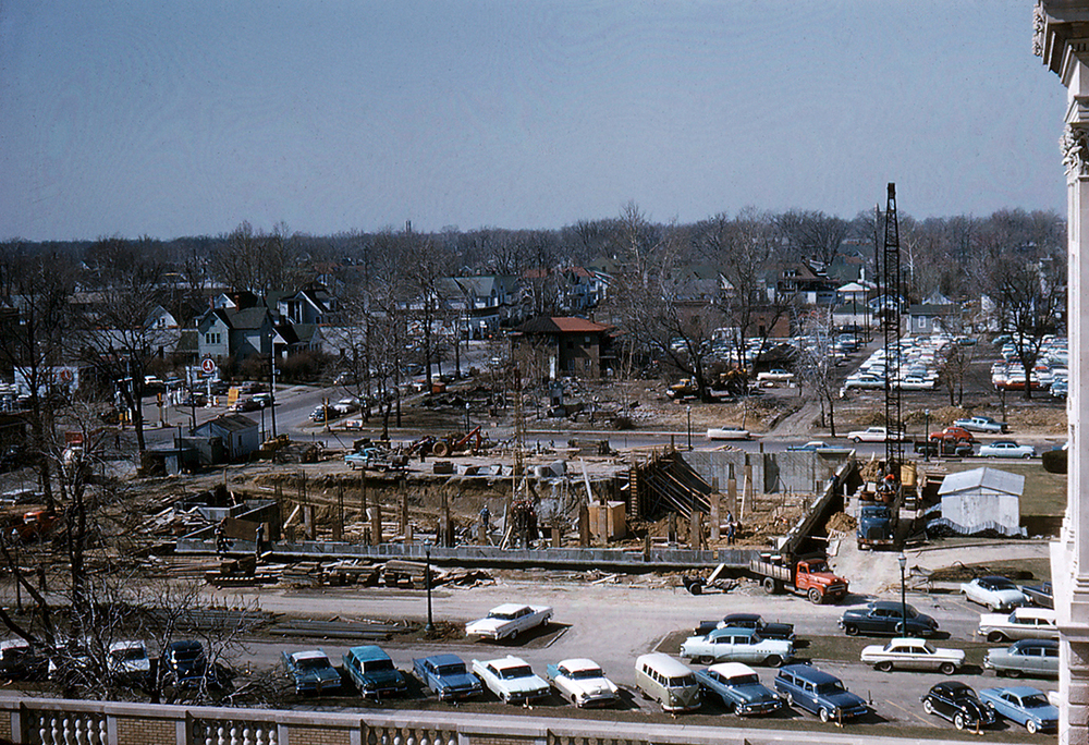 Museum construction, 1961. Photo courtesy Illinois State Museum