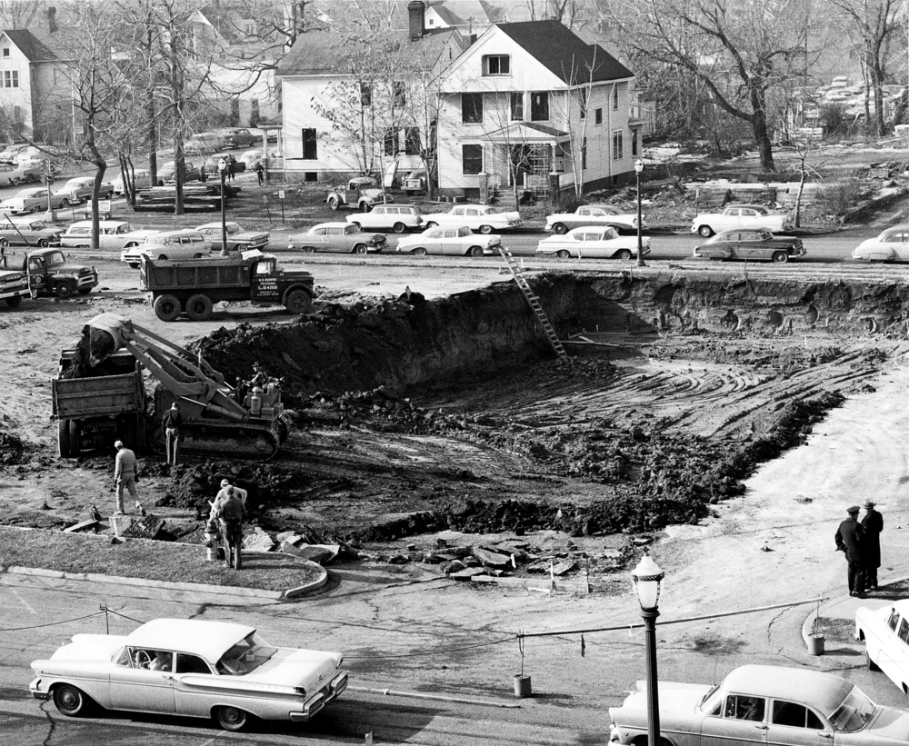 Excavation begins for new Illinois State Museum building, January 1961.Photo courtesy Illinois State Museum