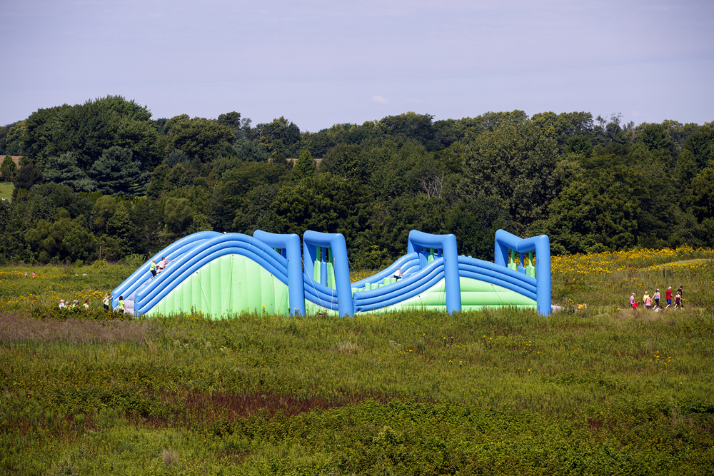 An obstacle on the course at the Insane Inflatable 5k fun run at Centennial Park Saturday, Aug. 6, 2016. Rich Saal/The State Journal-Register