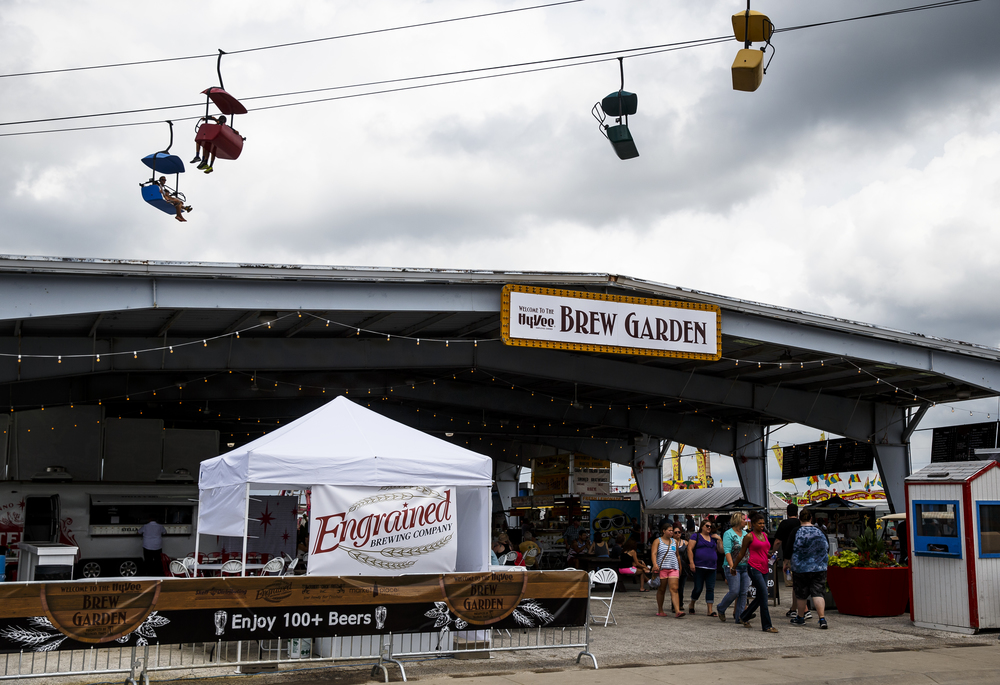The southern half of the Food-A-Rama pavilion has a new feature with the Brew Garden by HyVee during the 2016 Illinois State Fair at the Illinois State Fairgrounds, Friday, Aug. 12, 2016, in Springfield, Ill. Justin L. Fowler/The State Journal-Register