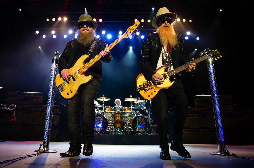 ZZ Top's Dusty Hill, left, and Billy Gibbons perform at the Illinois State Fair Sunday, Aug. 21, 2016. Ted Schurter/The State Journal-Register