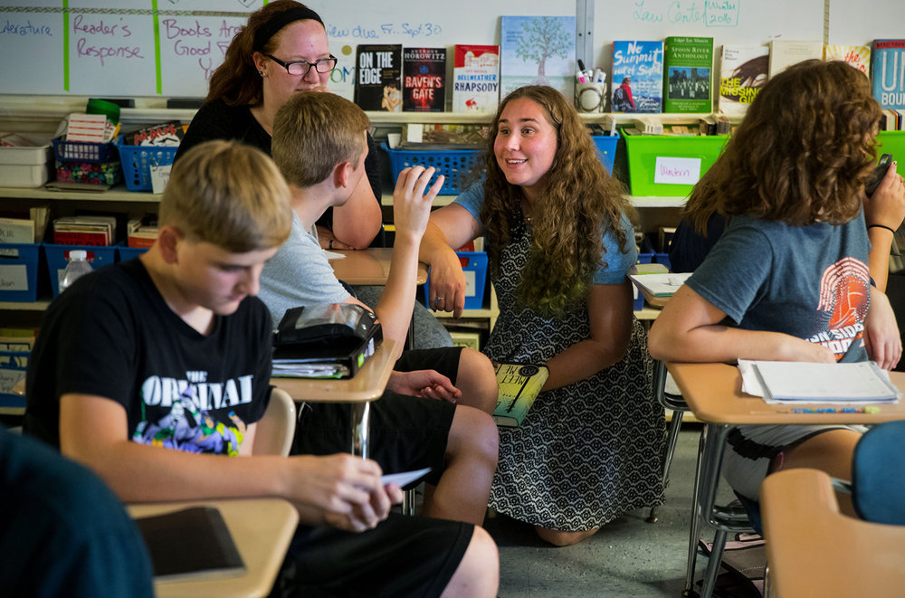 Hartsburg-Emden High School teacher Nichole Folkman is one of 10 finalists for 2017 Illinois Teacher of the Year. Ted Schurter/The State Journal-Register