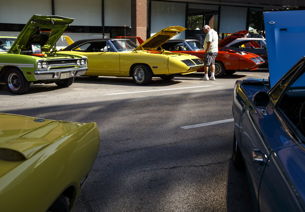 A collection of muscle cars on display on Fifth Street during 15th annual International Route 66 Mother Road Festival & Car Show, Saturday, Sept. 24, 2016, in Springfield, Ill. Justin L. Fowler/The State Journal-Register