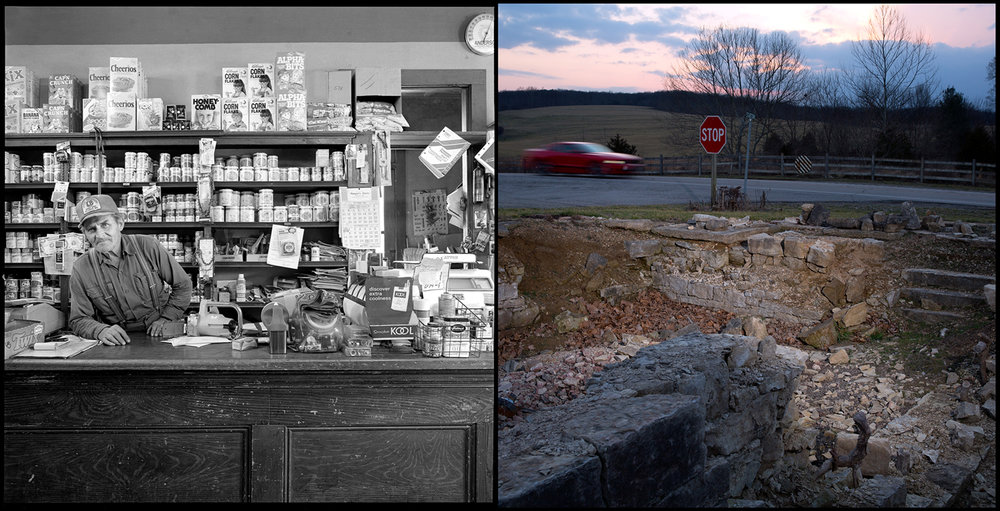 Edgar Naeger's store in River Aux Vasses, Mo., 1982. The Naeger store closed in 1990 and was demolished six years later.
