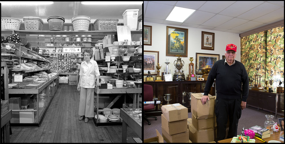 Thelma Higgins and her husband, Donald, owned and operated Higgins' Five and Dime store on East Locust Street in Chatsworth, Ill. It's now the office of the Illinois State Rifle Association, where Richard Pearson is executive director.