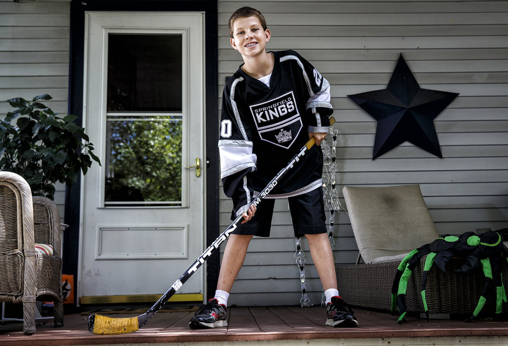 Andrew Reimers, 12, a forward for the Springfield Youth Hockey Association's Springfield Kings team, will be representing the group in the Chicago Blackhawks pre-game ceremony for their season opener in Chicago, Ill. Justin L. Fowler/The State Journal-Register