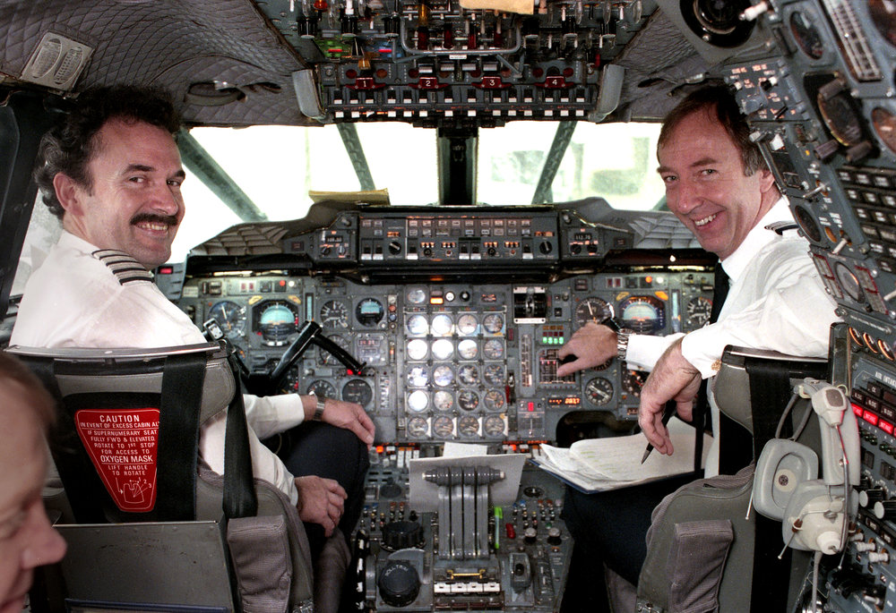 Piloting the Concorde from Springfield were Capt. Ian McNeilly, left, and Senior First Officer Tony Heald. Rich Saal/The State Journal-Register
