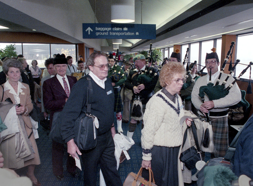 Ninety six passengers boarded a British Airways' Concorde at Capital Airport Oct. 18, 1989 for a VIP charter flight to New York and London. Rich Saal/The State Journal-Register