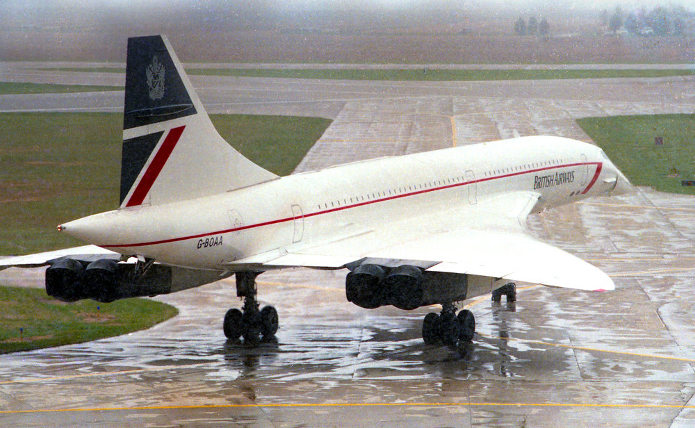 A British Airways' Concorde taxis to the runway for takeoff from Capital Airport Oct. 18, 1989. Rich Saal/The State Journal-Register