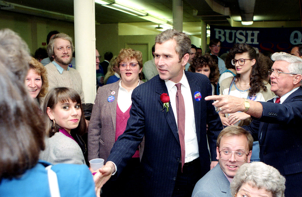 George W. Bush campaigned for his father George H. W. Bush in Springfield in November 2, 1988.  File/The State Journal-Register
