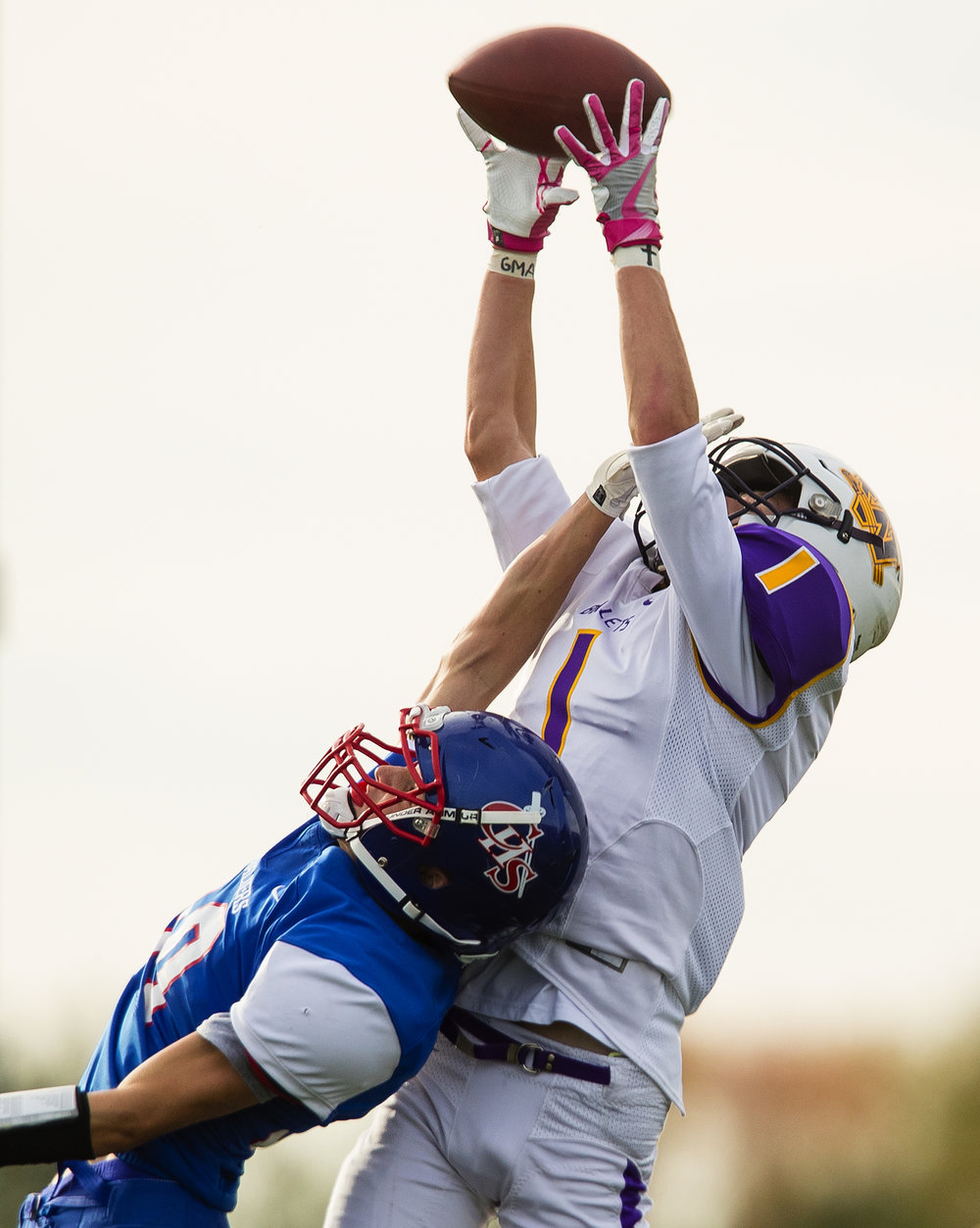 Williamsville's Kenton Baskett leaps for an incomplete pass against Carlinville during the class 3A football playoffs at Carlinville High School Saturday, Nov. 5, 2016. Ted Schurter/The State Journal-Register