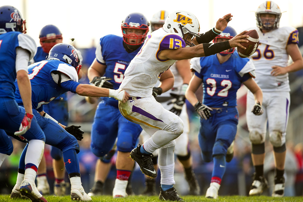 Williamsville's Jace Franklin scampers into the endzone for one of his four touchdowns against Carlinville during the class 3A football playoffs at Carlinville High School Saturday, Nov. 5, 2016. Ted Schurter/The State Journal-Register