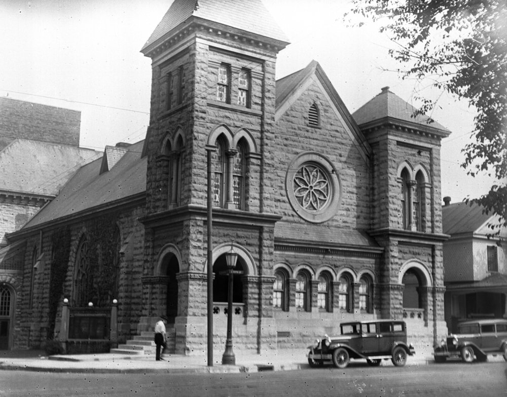 First Congregational Church at Fifth and Edwards streets, circa 1930. File/The State Journal-Register