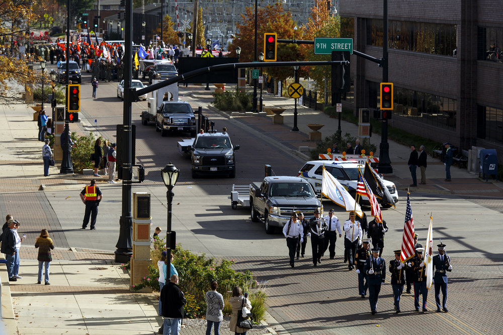 The Veterans Day parade kicks off from Ninth Street and Capitol Avenue Friday, Nov. 11, 2016. Rich Saal/The State Journal-Register