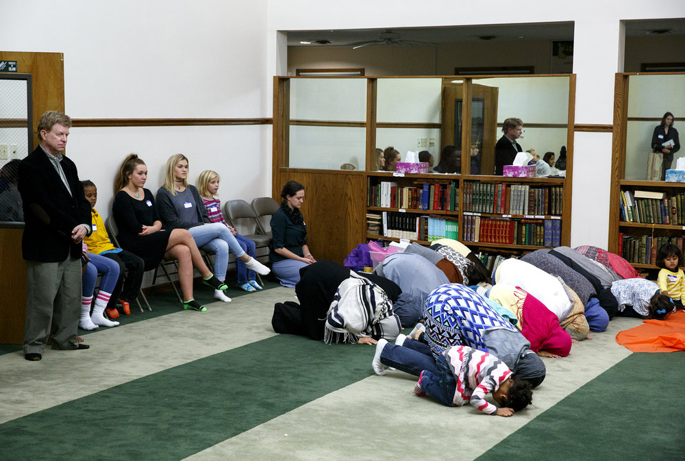 The Maghrib daily prayer is observed by members of the Islamic Society of Greater Springfield during the Children of Abraham program at the  mosque Wednesday, Nov. 16, 2016. Rich Saal/The State Journal-Register